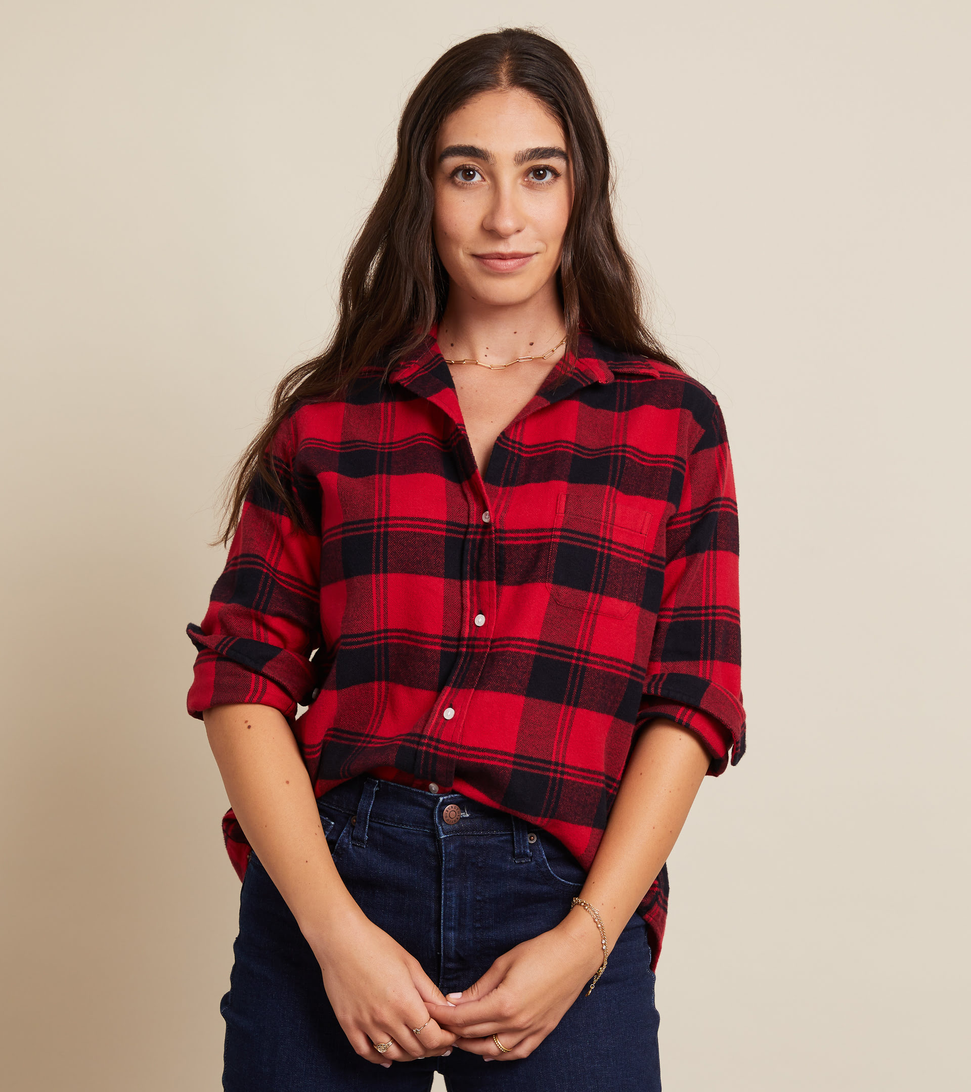 The Hero Red with Black Plaid, Plush Flannel view 1