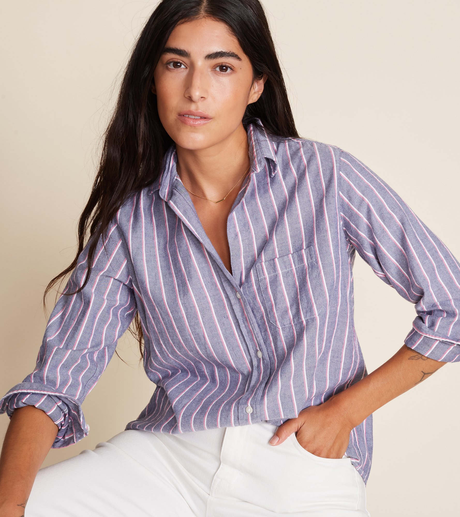 Image of The Hero Feathered Flannel Stripes & Prints
