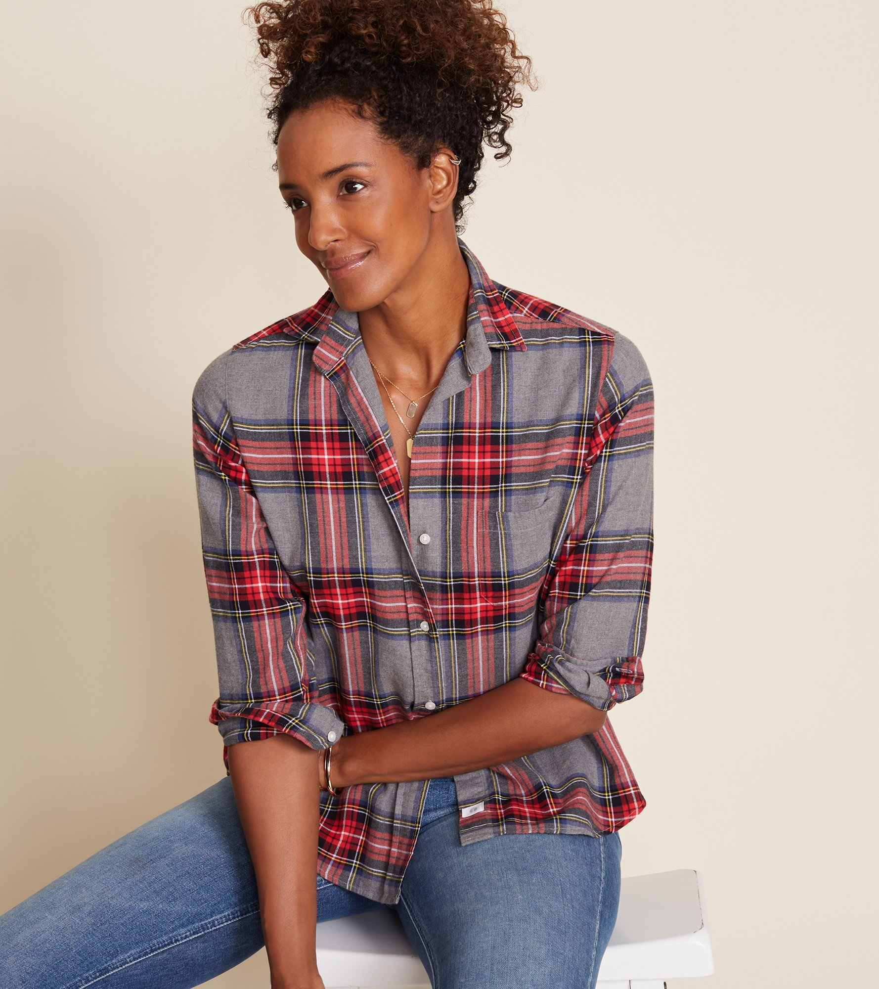 Image of The Hero Feathered Flannel Plaids