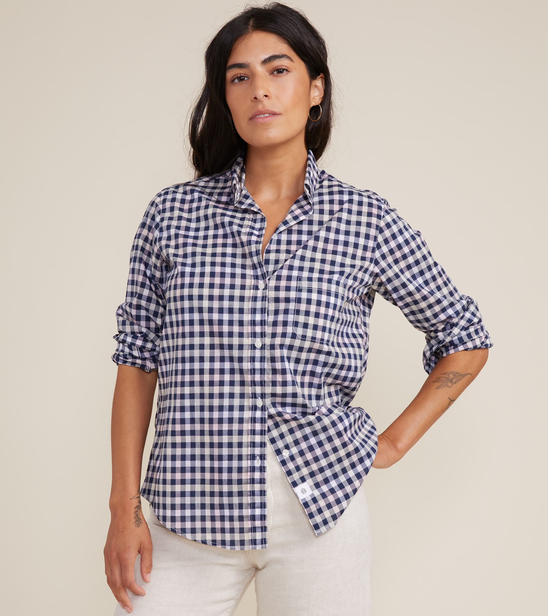 Image of The Hero Button up Shirt in Multi Check, Cool Cotton