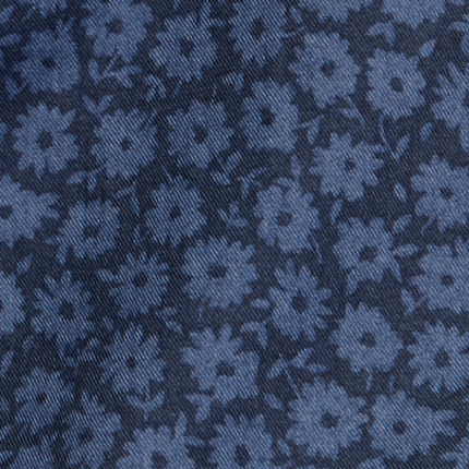 navy with blue flowers