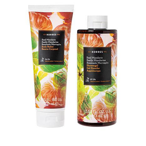 Korres  Basil Mandarin Body Butter and Shower Gel