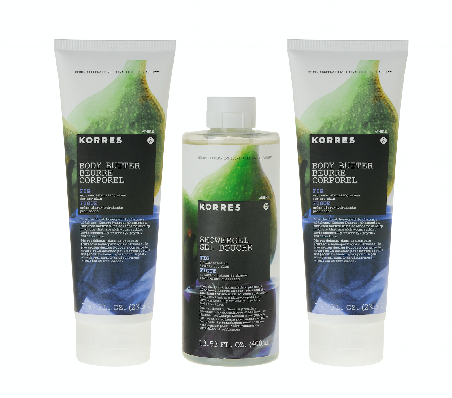 Korres  Fig Body Butter and Shower Gel Trio