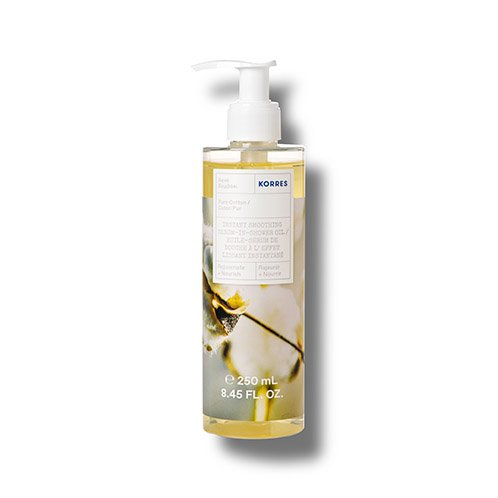 Korres REJUVENATE + NOURISH Pure Cotton Instant Smoothing Serum-In-Shower Oil