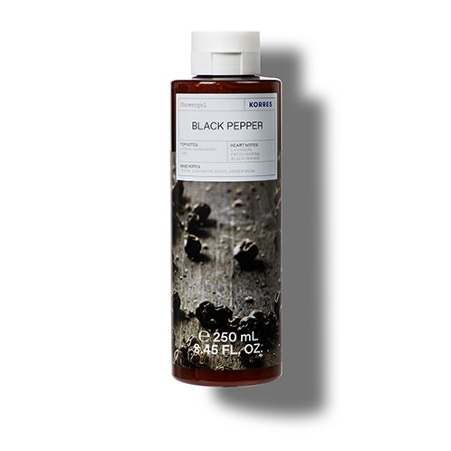 Korres CLEANSE + HYDRATE Black Pepper Shower Gel