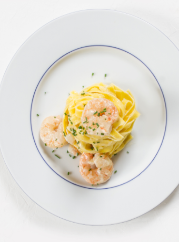 Tagliatelle Amalfitane with Shrimp and Gorgonzola