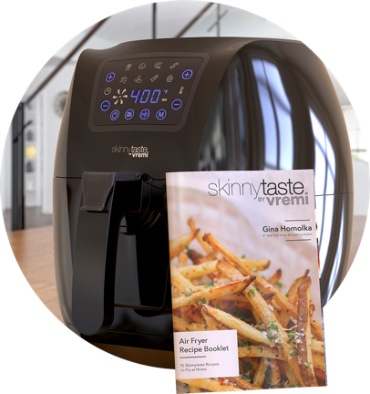 Bonus for buying Skinnytaste by Vremi Air Fryer - XL Capacity, 5.8 Quart, 1700 Watt, Digital Touch Screen with 8 Cooking Presets, Bonus Recipe Booklet