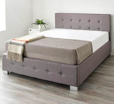 Aspire Linen Ottoman Bed