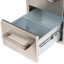 Built In Grill Cabinet Drawer Storage In Stainless Steel 18 Quot