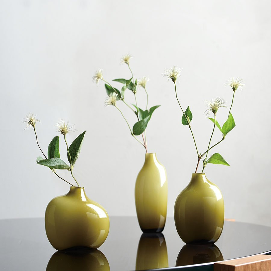 KINTO SACCO VASE GLASS 03 GREEN THUMBNAIL 1