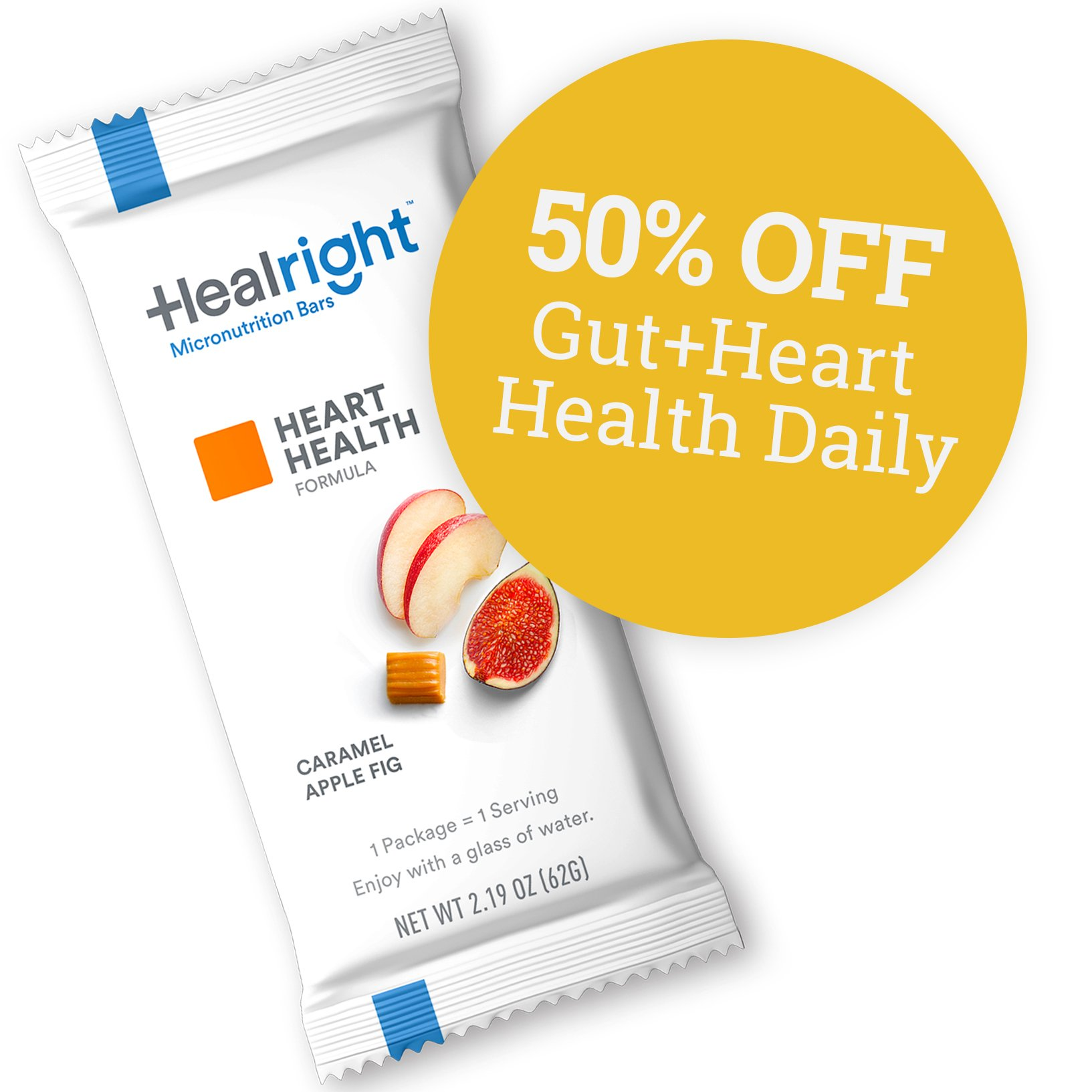 50% Off Gut + Heart Health Daily with Caramel Apple Fig flavor