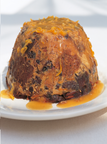 Delia's Steamed Panettone Pudding with Eliza Acton's Hot Punch Sauce