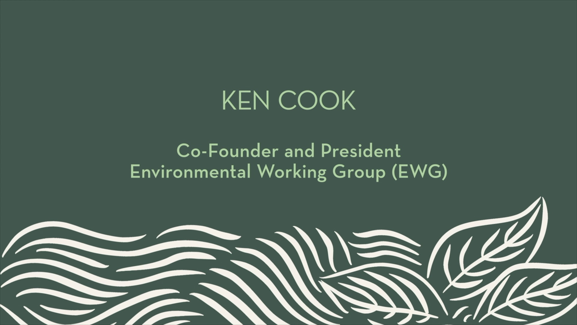 Ken Cook | Introduction