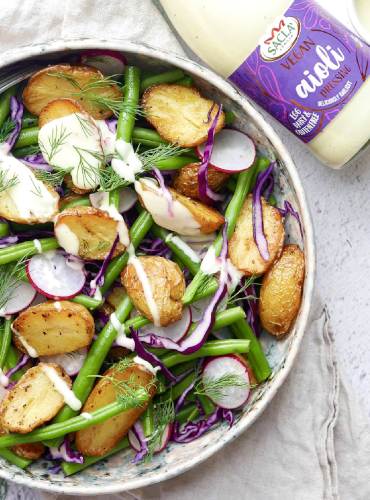 Roast Potato and Green Bean Aioli Salad by @bonniebrazilb