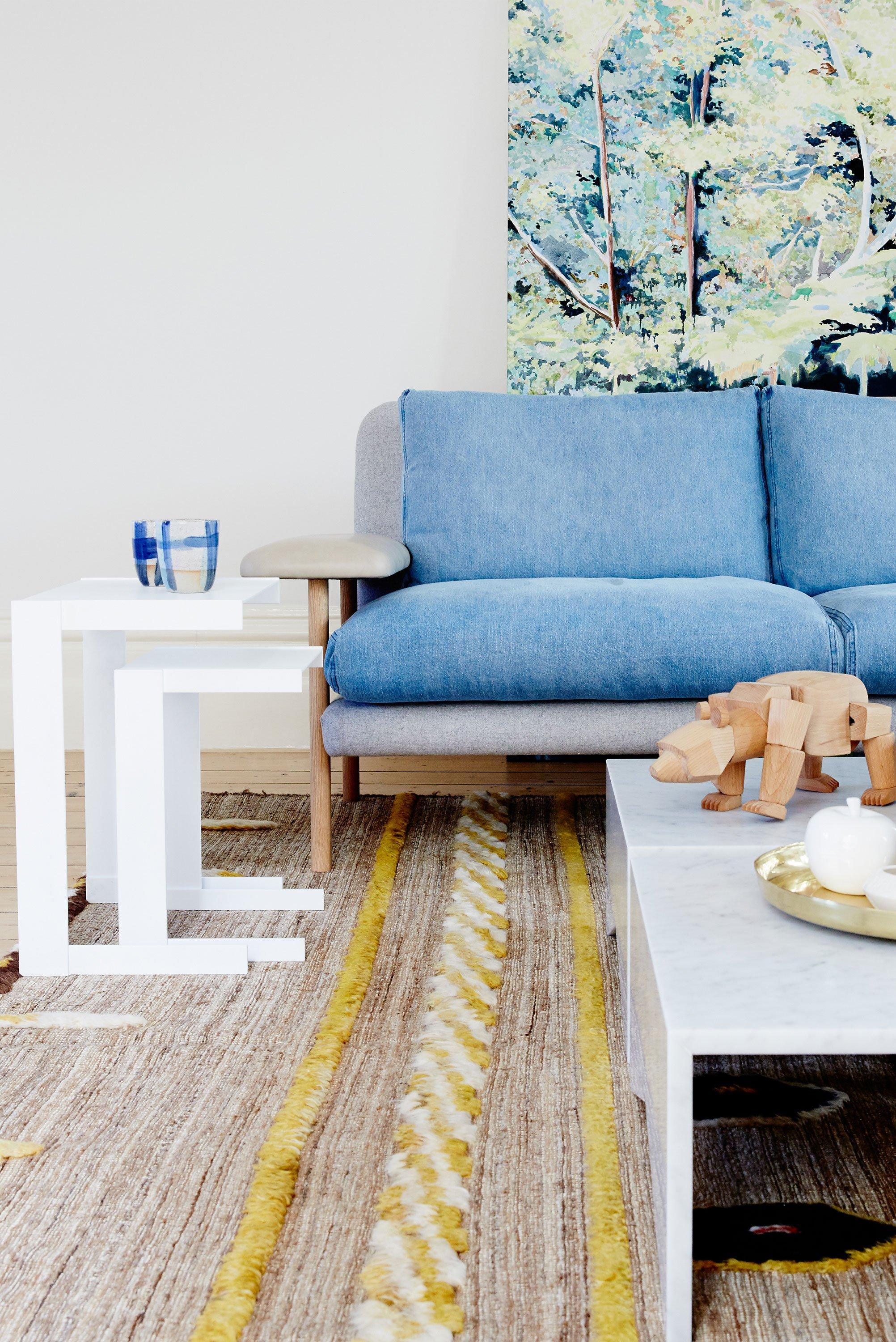 Bailey Nesting Tables, Rufus Sofa + Memphis Coffee Tables