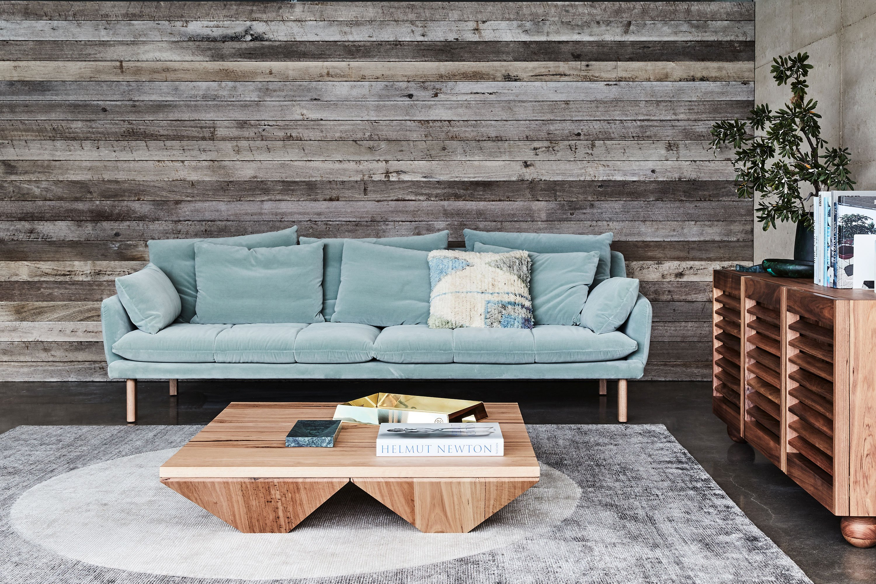 Andy Sofa, Cove Coffee Table + Finch Sideboard