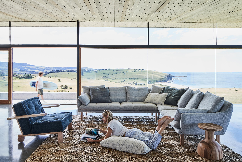 Dune Armchair, Andy Modular Sofa + Bandy Side Table