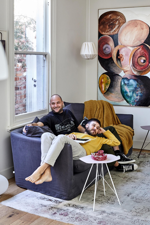 Cleo Sofa + Bobby Blanket