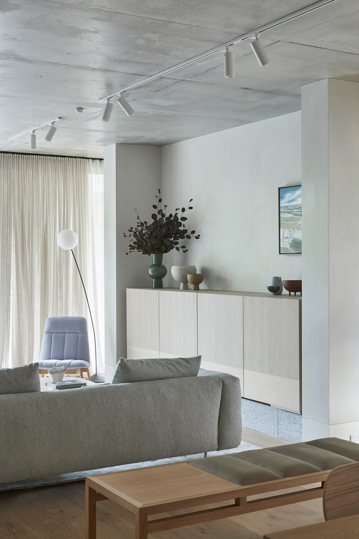 Essie Armchair, Boyd Floor Lamp, Miller Sofa + Billie Bench
