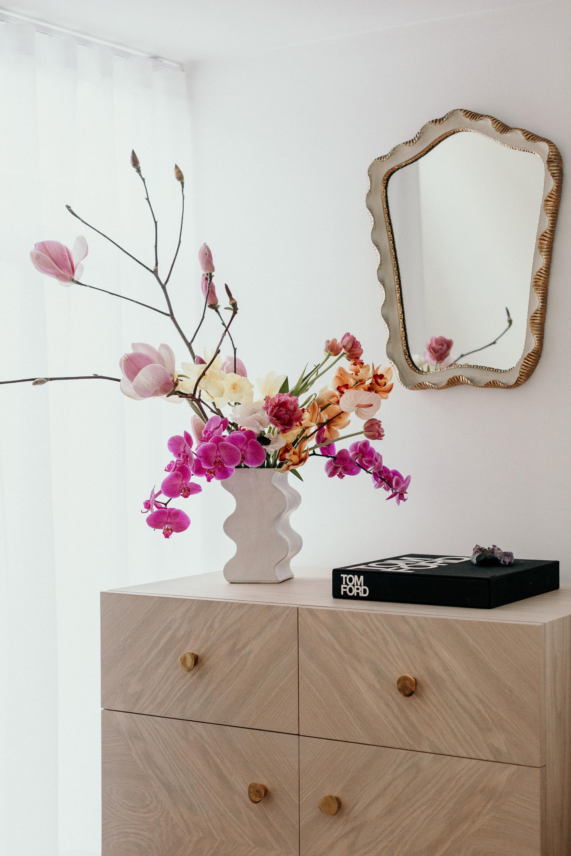 Noah Sideboard + Wave Vase in Oyster