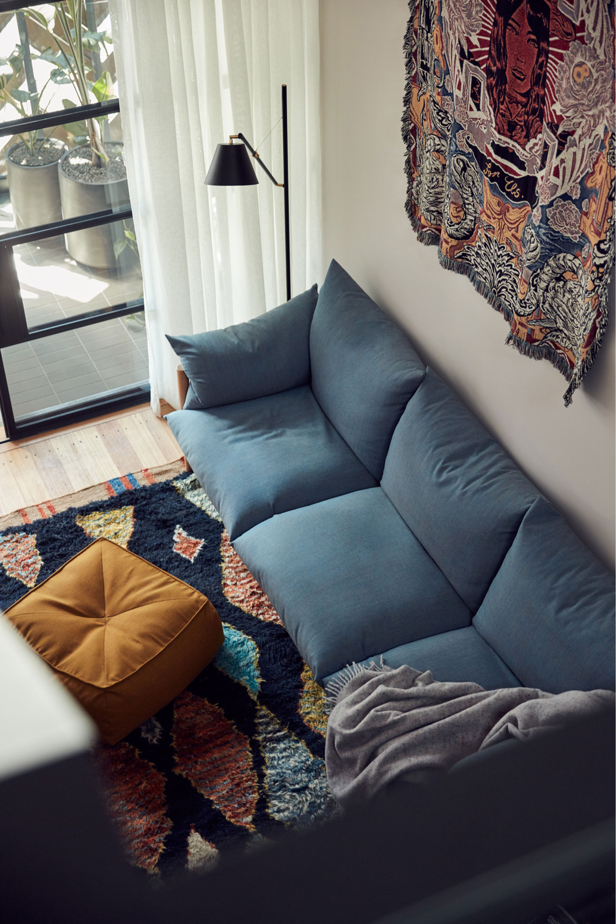 Wilfred 3.0 Seater + Alby Ottoman