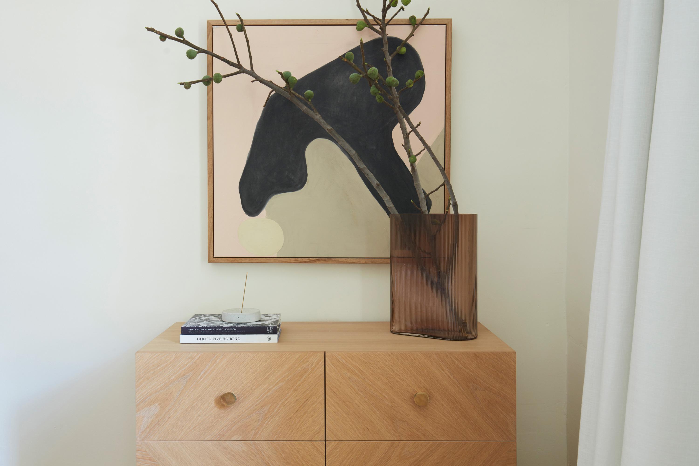 Ivy Incense Burner, Mist Vase in Amber + Noah Console