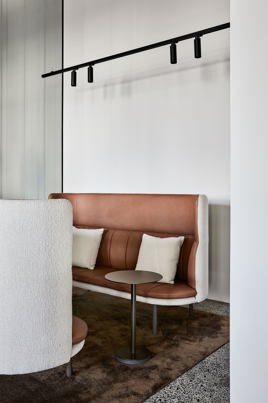 Franklin High Back Sofa + Bonney Side Table