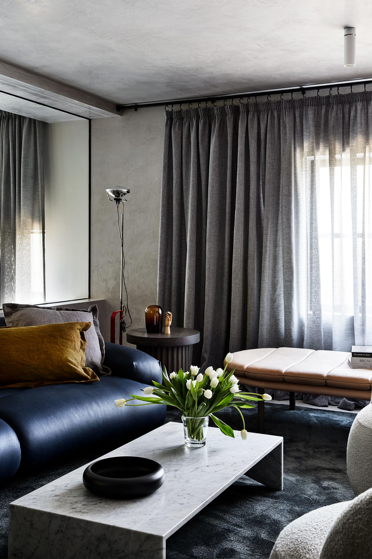 Valley Sofa, Duke Cushions, Ace Side Table, Franklin Ottoman, Memphis Coffee Table + Joy Armchairs