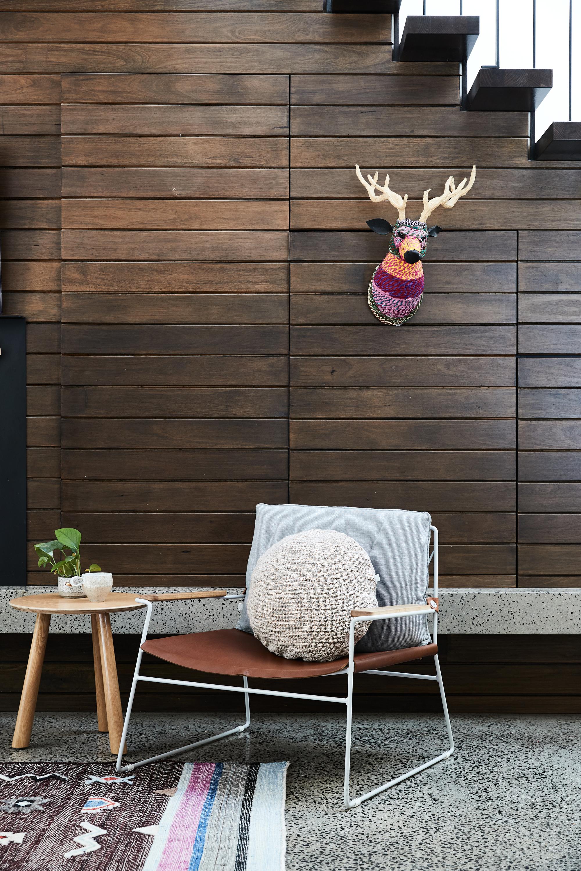 Olba side table + Dari rug + Seb armchair + Bowie Round cushion