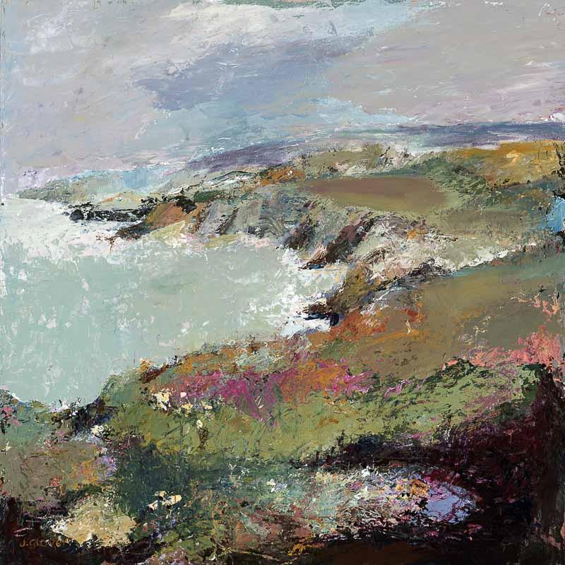 Coastal Artwork by Judi Glover Art who's coastal painting is of the Pembrokeshire coast and available as a coastal art print, coastal canvas print and coastal greeting card.