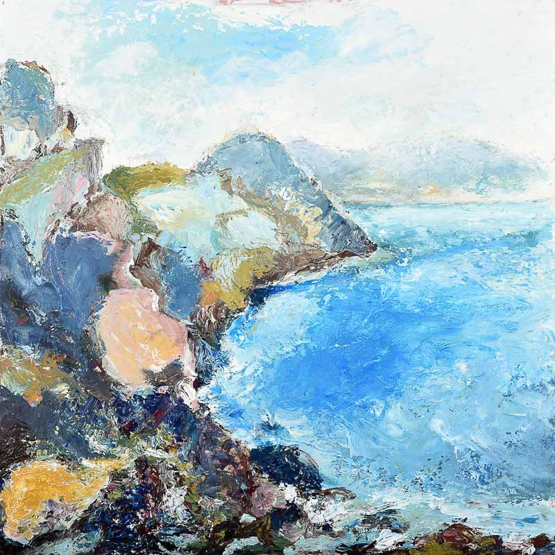 Painting of the Wilderness Coast which is available as a coastal card, coastal art print and a coastal canvas print by Independent Artist Judi Glover Art