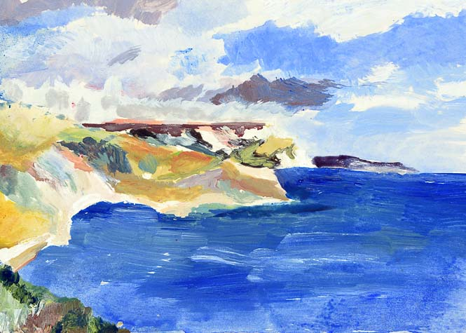 Coastal Canvas Prints of Dorset by Judi Glover Art. The coastal artwork in the UK is also available as a coastal art print and coastal greeting card.