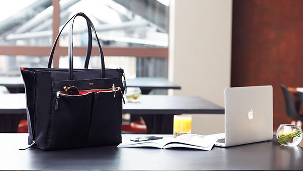 "KNOMO Grosvenor Place Laptop Tote Bag - 15"" Lifestyle Image |knomo.com"