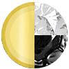 Gold|Black Metal|White Diamondettes Swatch