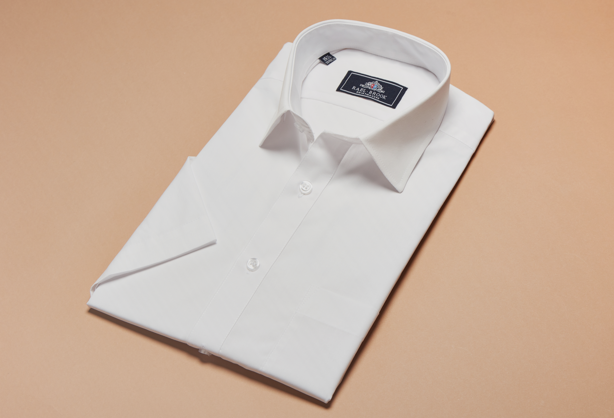 Classic Fit White Short Sleeve Shirt