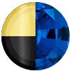 Gold|Black Metal|Blue Sapphire Diamondettes Swatch