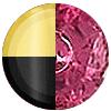 Gold|Black Metal|Ruby Diamondette Swatch