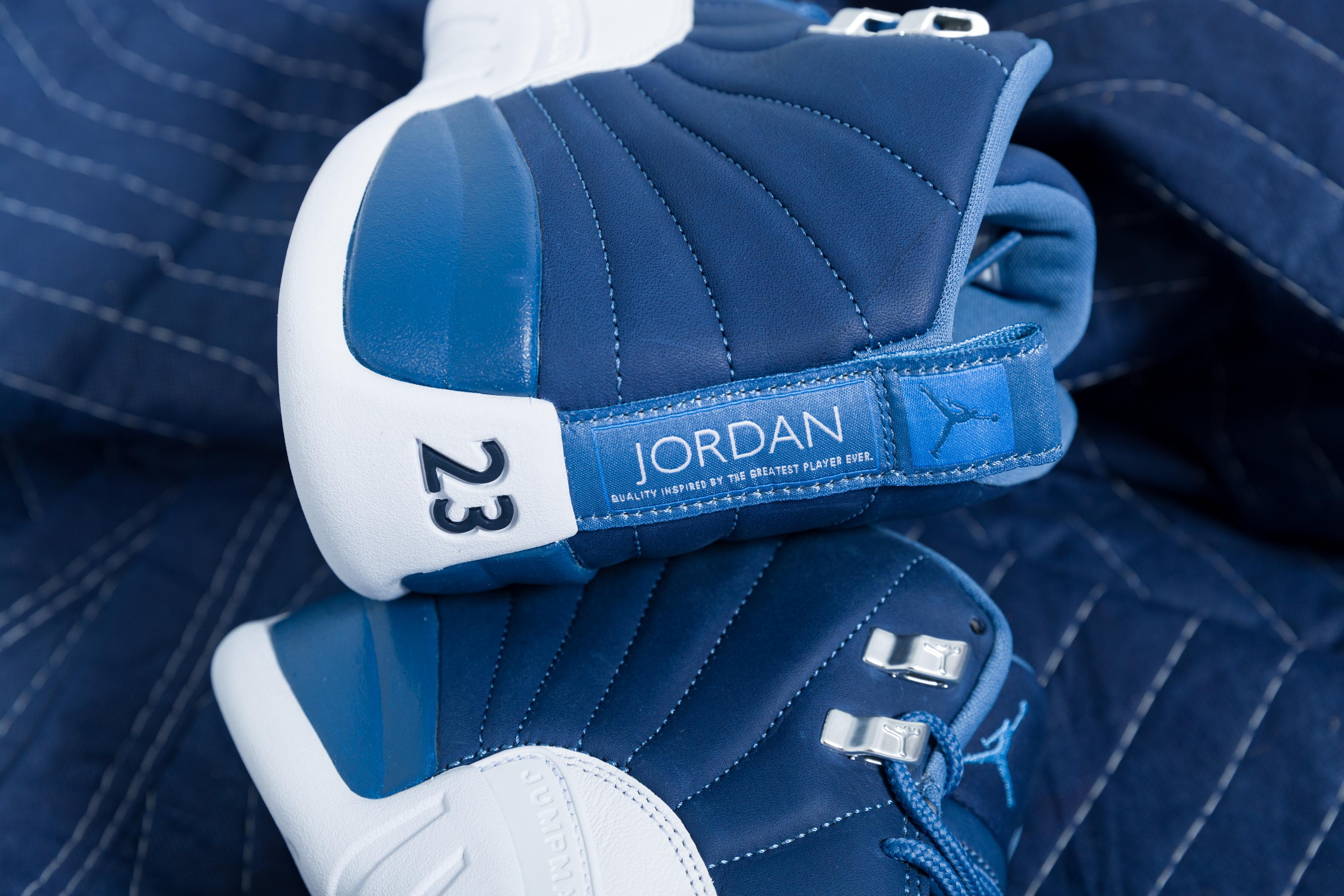 Nike Air Jordan 12 Retro Stone Blue Legend Blue Obsidian