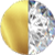 Gold | White Diamondettes Swatch