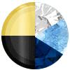 Gold | Blue Swatch