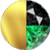 Gold/Black/Emerald Crystal Swatch