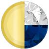 Gold/Blue Sapphire/White Diamondettes Swatch