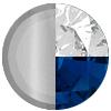 Silver/Blue Sapphire/White Diamondettes Swatch