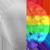 Happy Rainbow Charm Necklace Silver/Rainbow Diamondettes