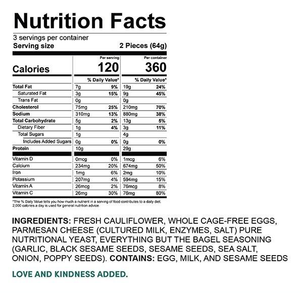 Cauliflower Thins (6 per pack)