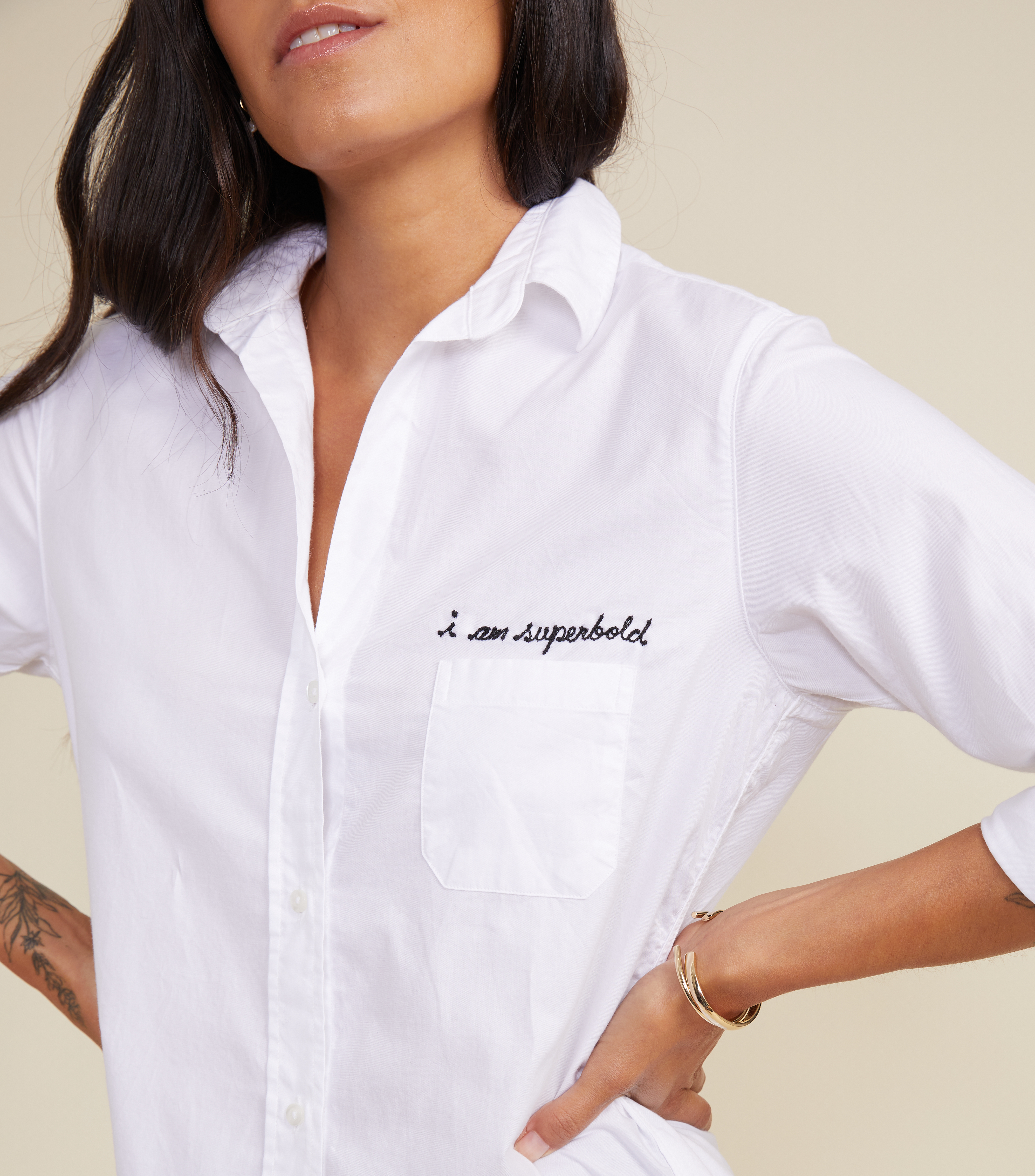 Image of The Hero Button-Up Shirt Bold, Cozy Cotton