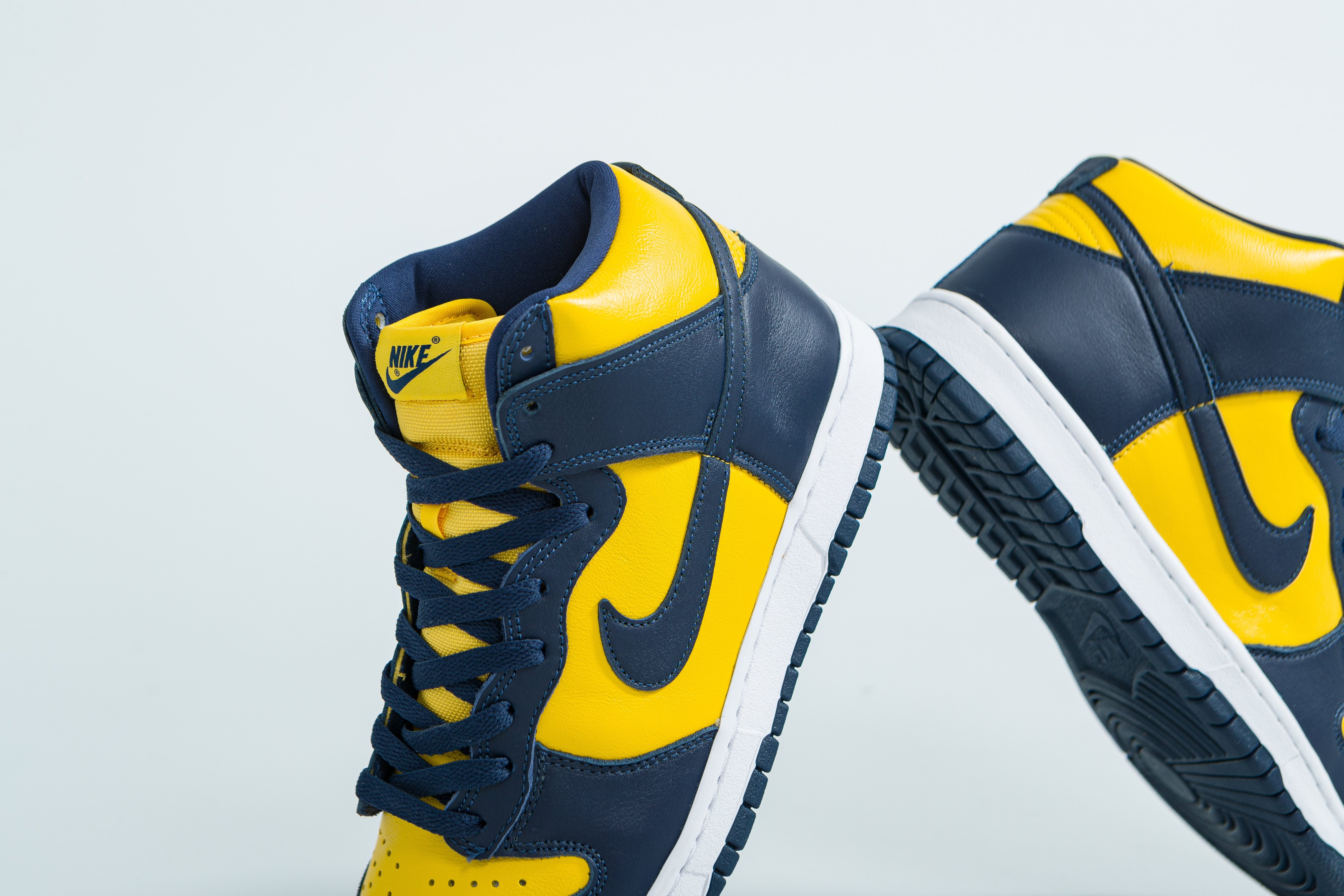 Up There Launches - Nike Dunk High SP - Varsity Maize/Midnight Navy 'Michigan'