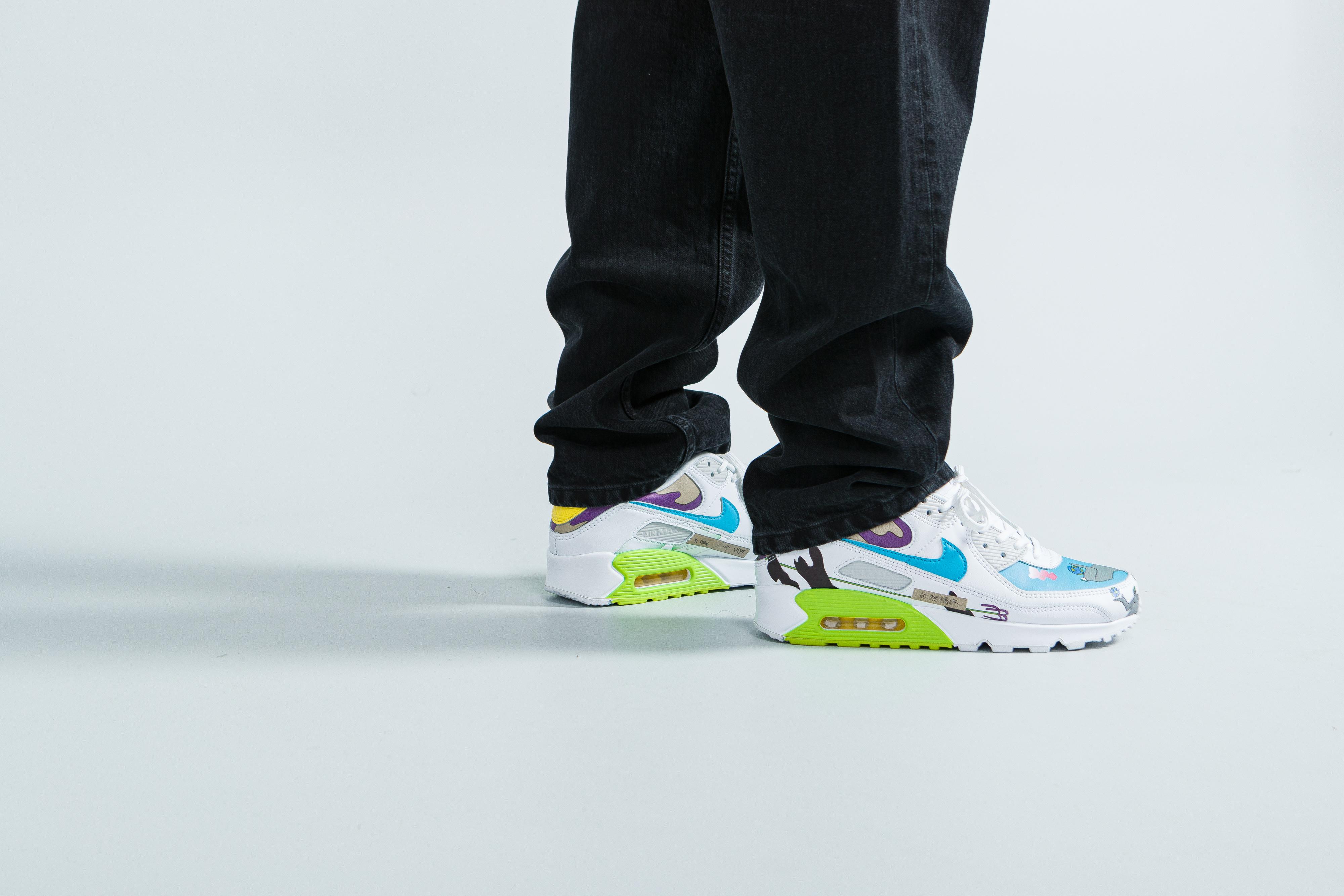 Nike X Ruohan Wang - Flyleather Air Force 1, Air Max 90 & Blazer ...