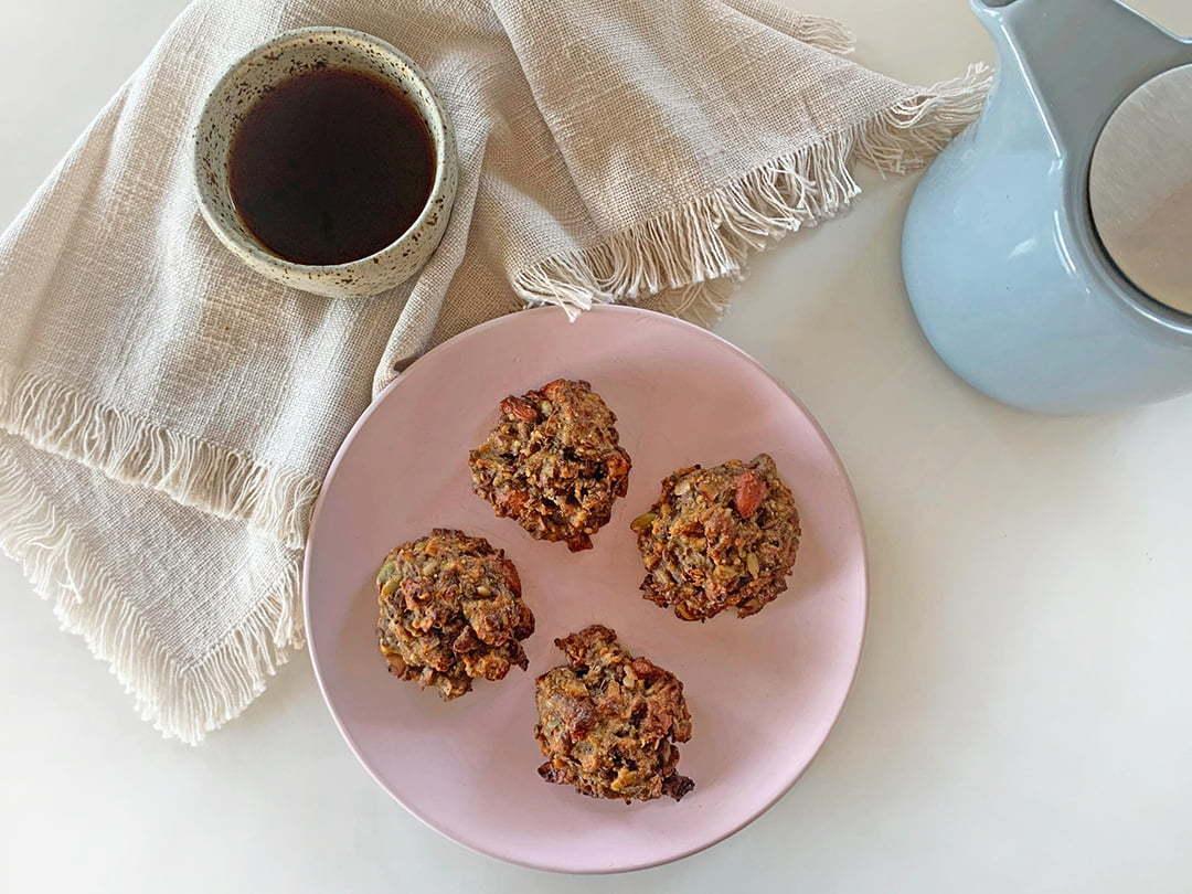 Banana & Espresso Breakfast Cookies