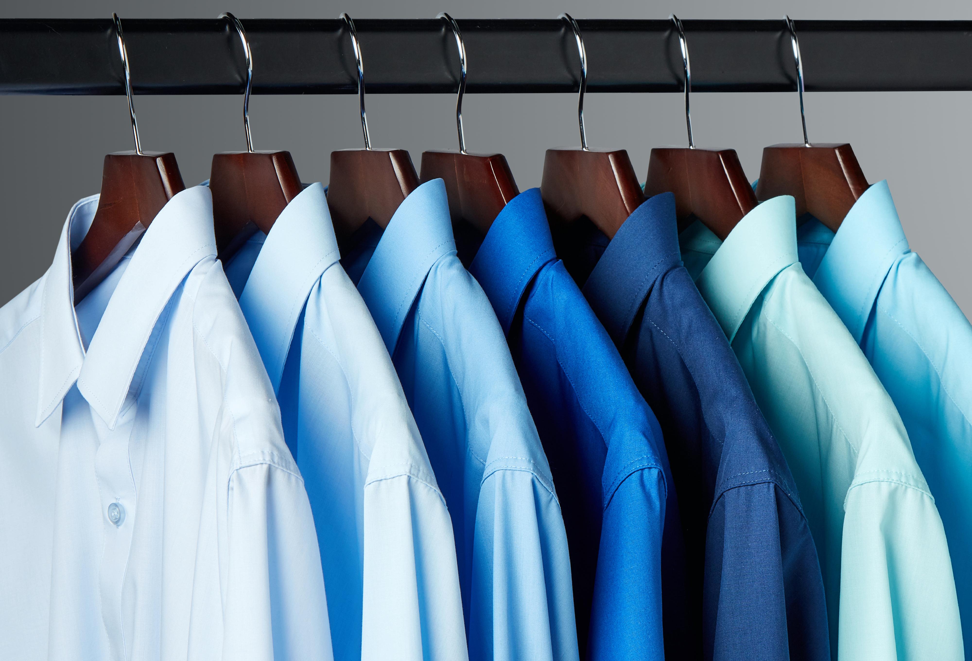 Classic Fit Plain Blue Shirts